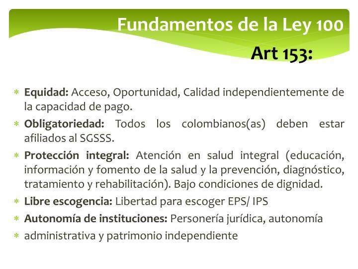 Fundamentos de la Ley 100