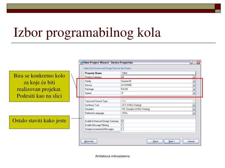 Izbor programabilnog kola