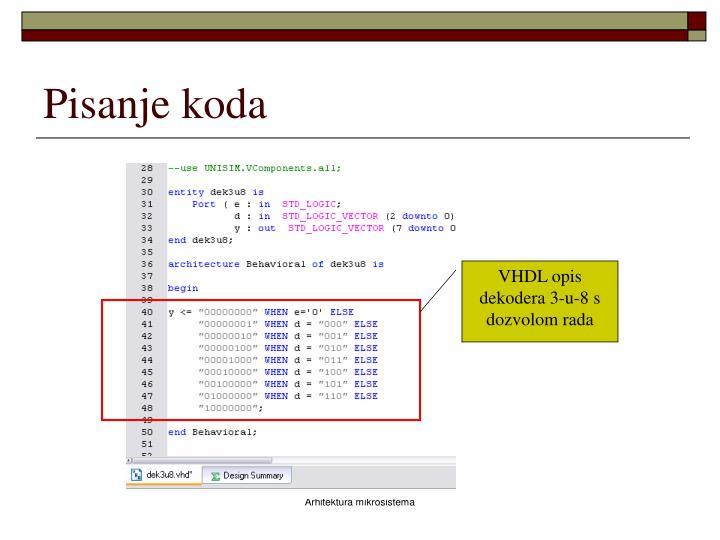 Pisanje koda