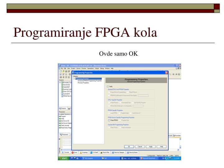 Programiranje FPGA kola
