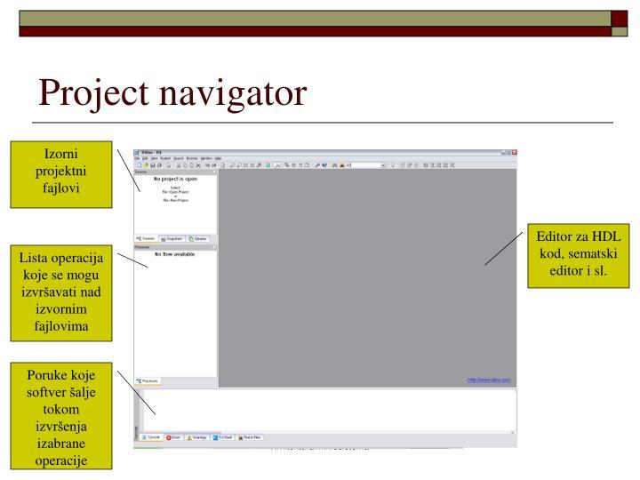 Project navigator
