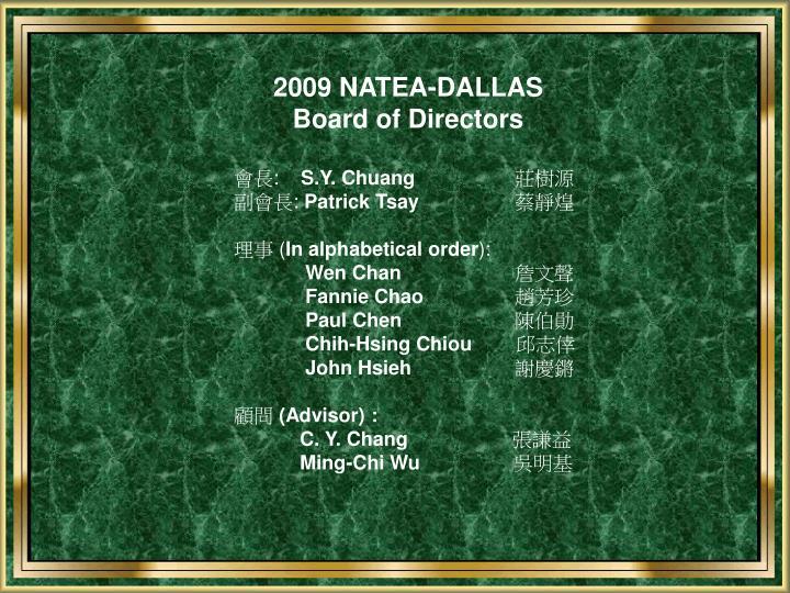 2009 NATEA-DALLAS
