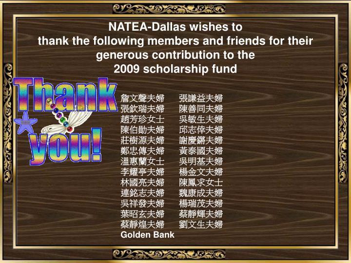 NATEA-Dallas wishes to