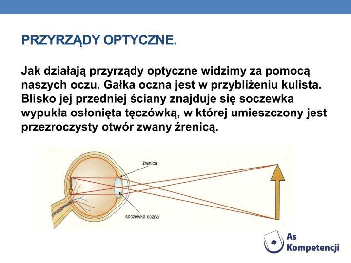Przyrzdy optyczne.