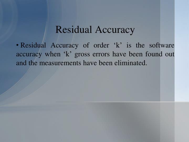 Residual Accuracy