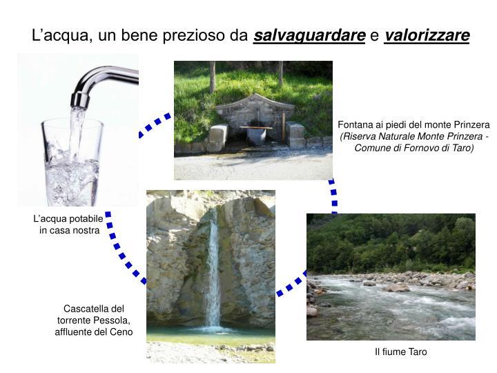 L'acqua, un bene prezioso da