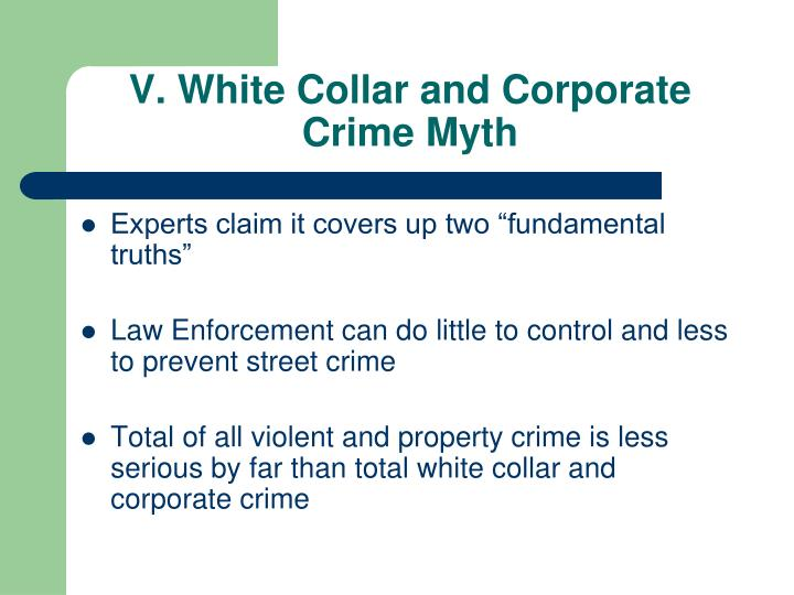 an analysis of the white collar crime and crime preventative agencies