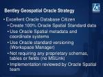 bentley geospatial oracle strategy