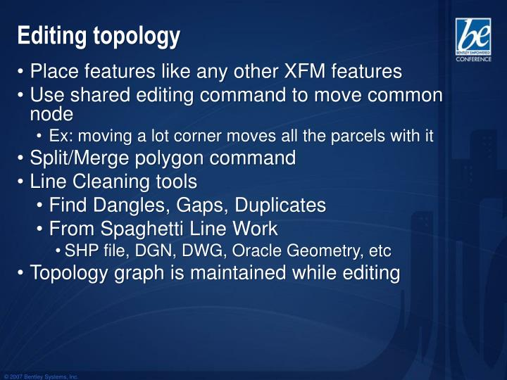 Editing topology