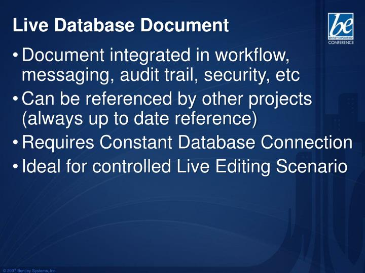 Live Database Document