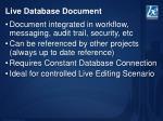 live database document1