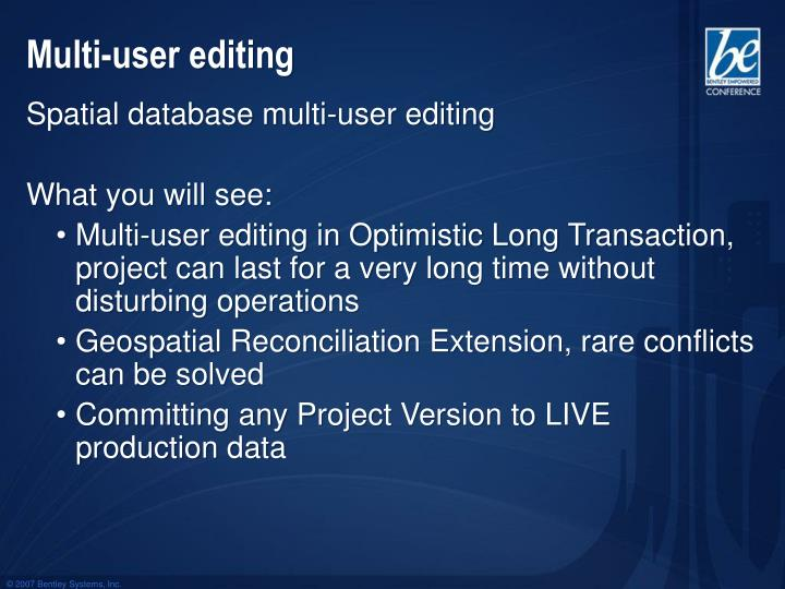 Multi-user editing