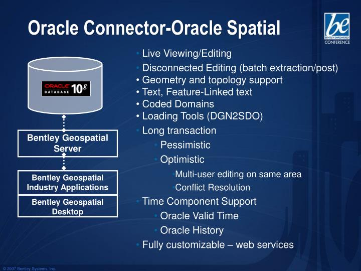 Oracle Connector-Oracle Spatial