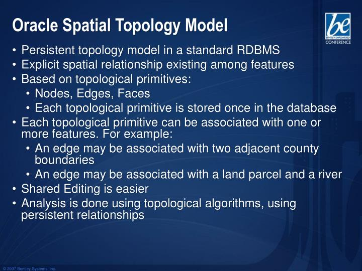 Oracle Spatial Topology Model