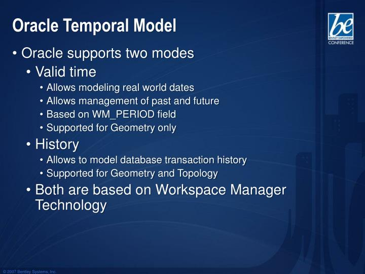 Oracle Temporal Model