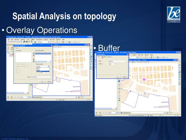 Spatial Analysis on topology