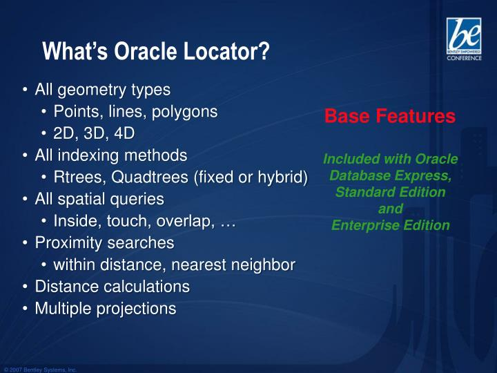 What's Oracle Locator?