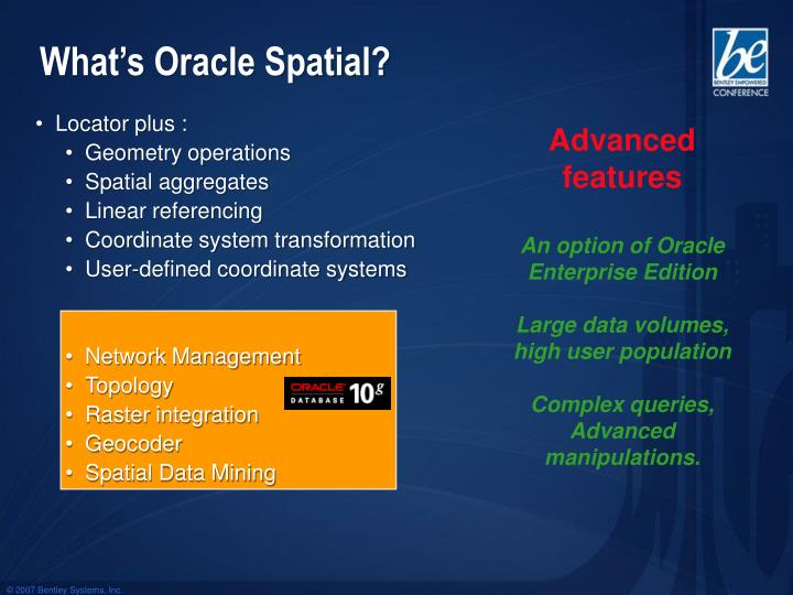 What's Oracle Spatial?