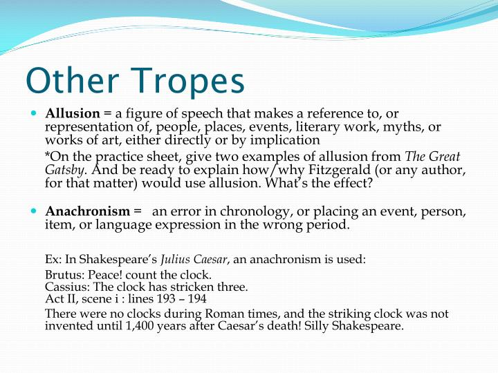Other Tropes
