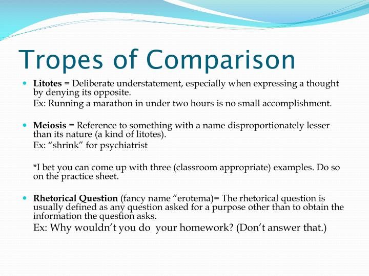 Tropes of Comparison