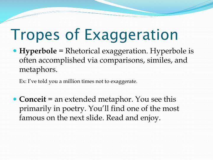 Tropes of Exaggeration