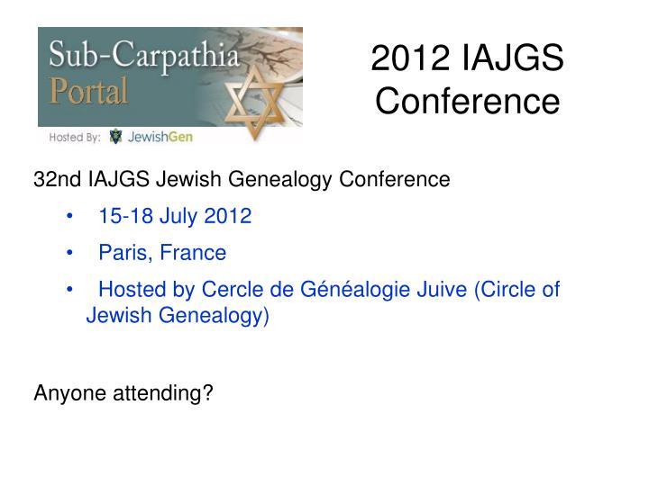 2012 IAJGS