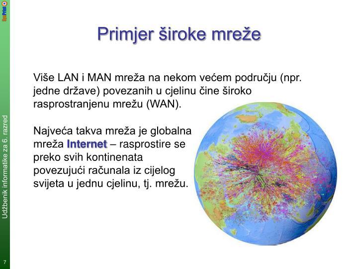 Primjer široke mreže