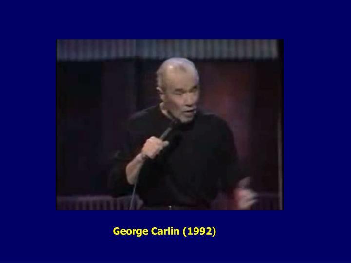George Carlin (1992)