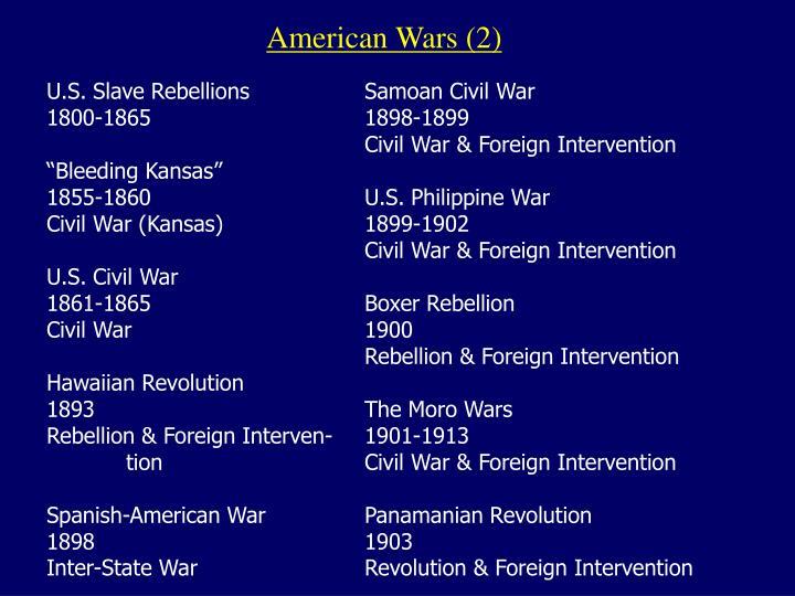 American Wars (2)