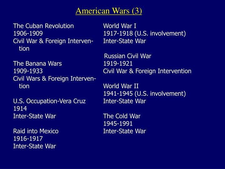 American Wars (3)