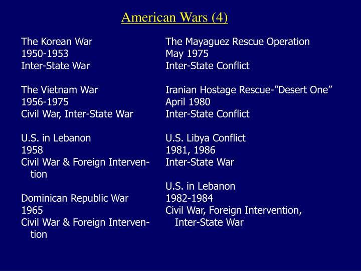 American Wars (4)