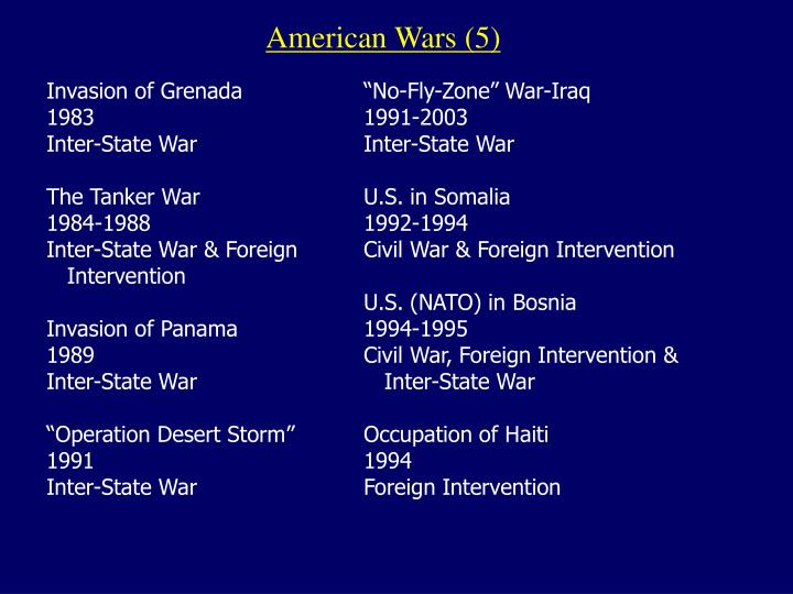 American Wars (5)