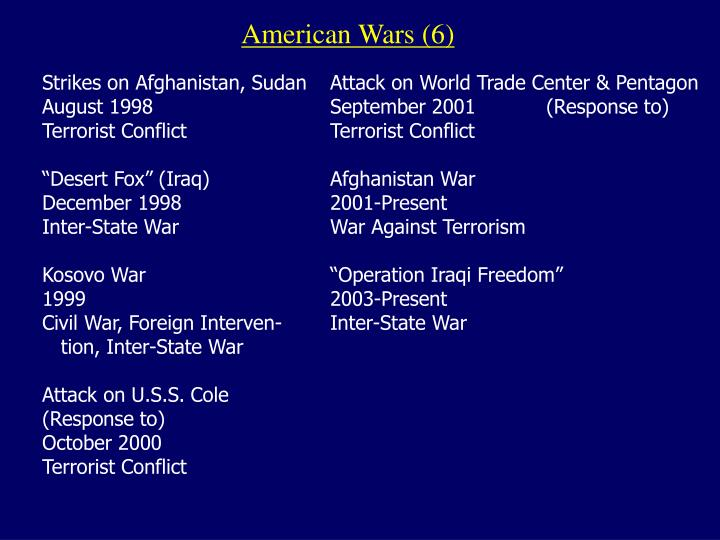 American Wars (6)