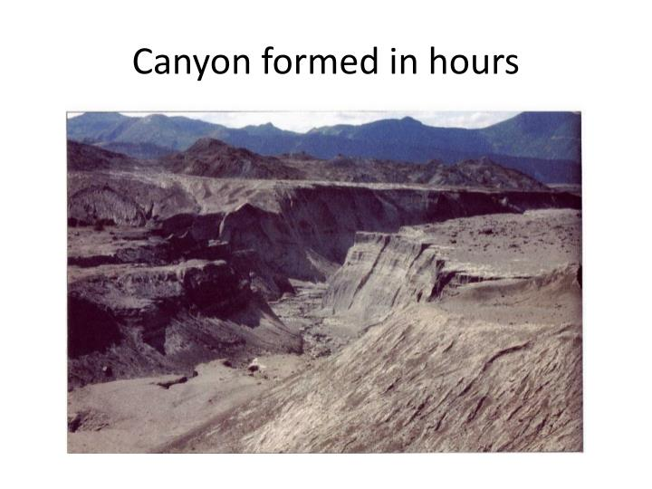 Canyon formed in hours