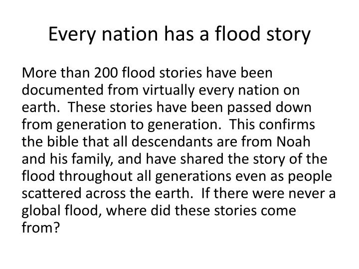 Every nation has a flood story