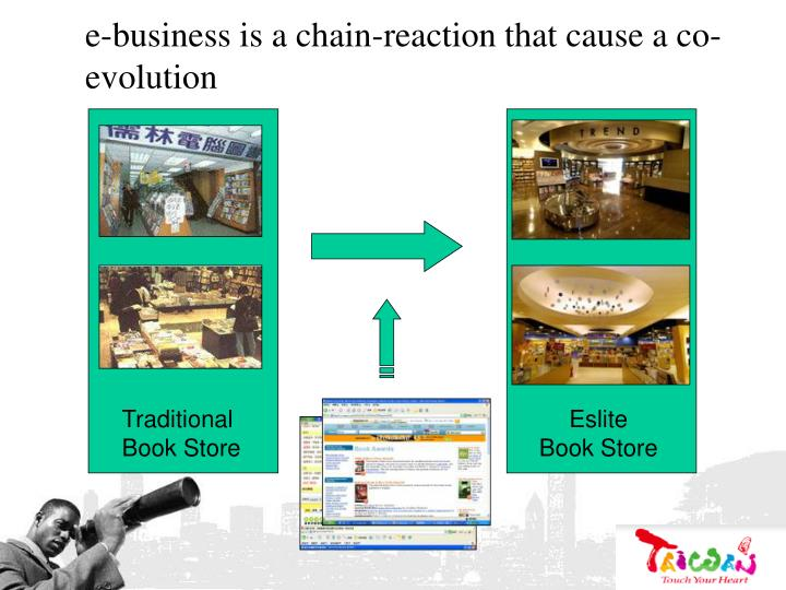 e-business is a chain-reaction that cause a co-evolution