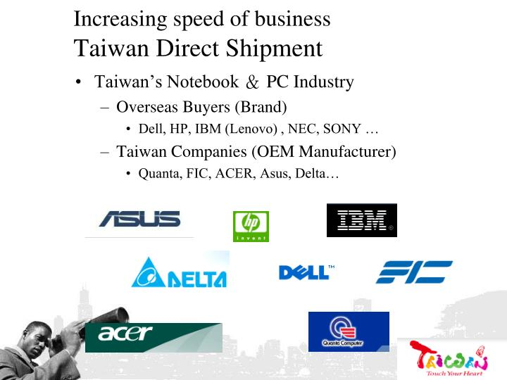 Increasing speed of business