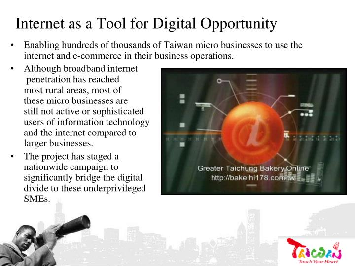 Internet as a Tool for Digital Opportunity