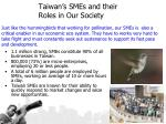 taiwan s smes and their roles in our society