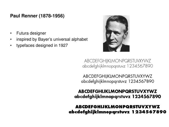 Paul Renner (1878-1956)