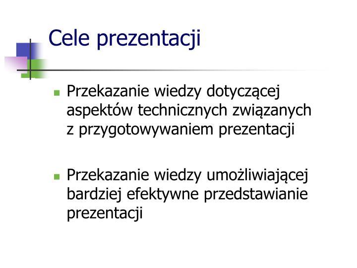 Cele prezentacji