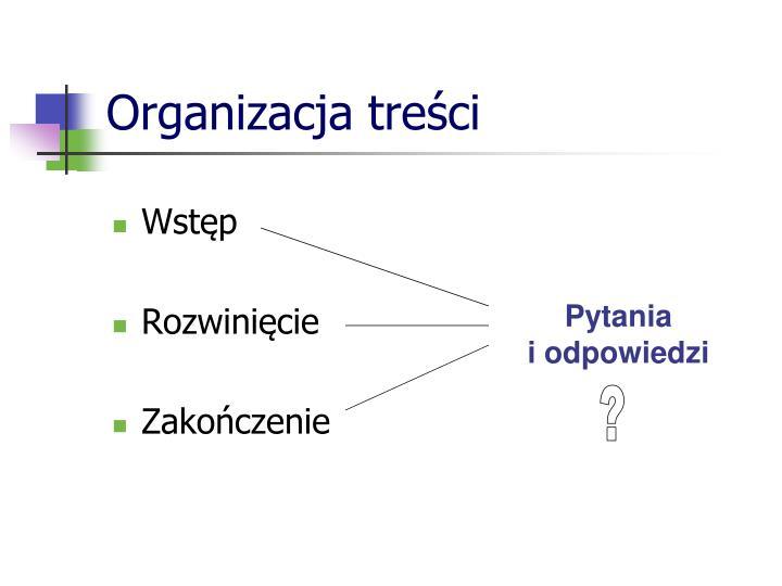 Organizacja treści