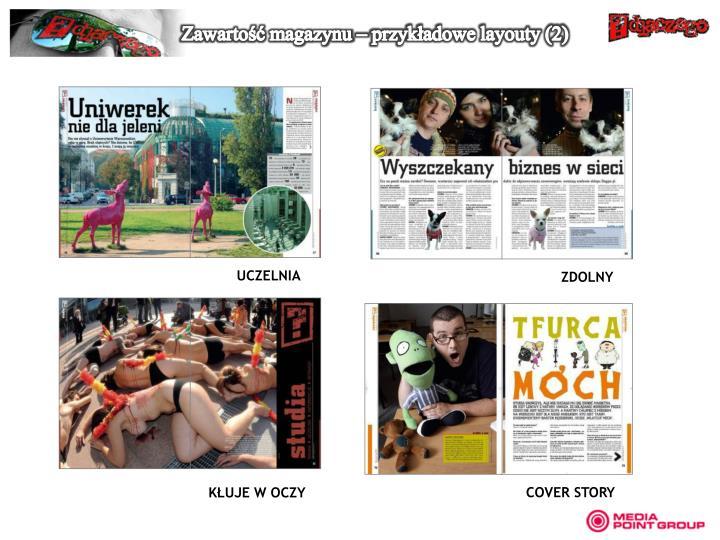 Zawartość magazynu – przykładowe layouty (2)