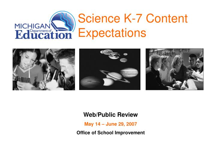 Science k 7 content expectations