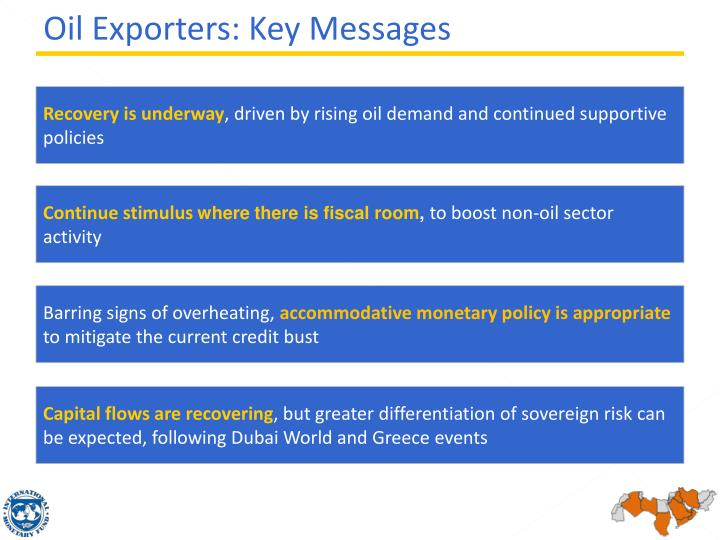 Oil Exporters: Key Messages