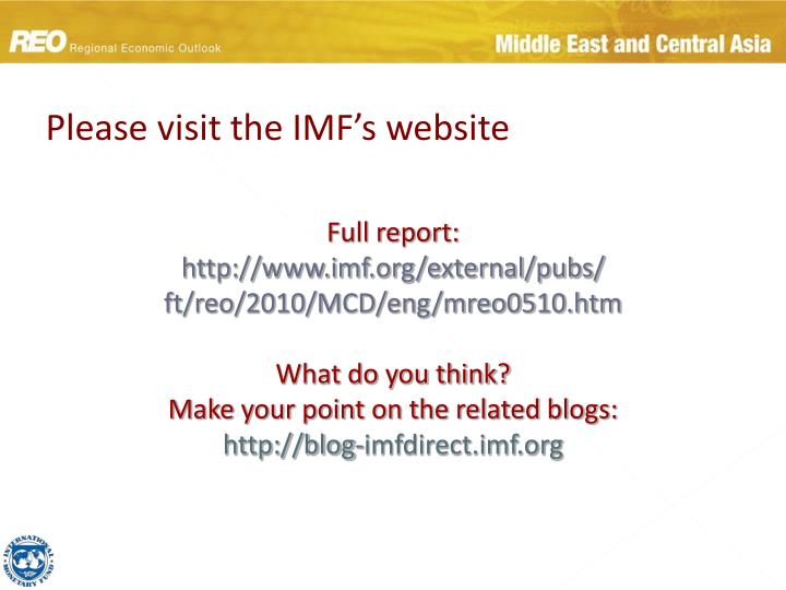 Please visit the IMF's website
