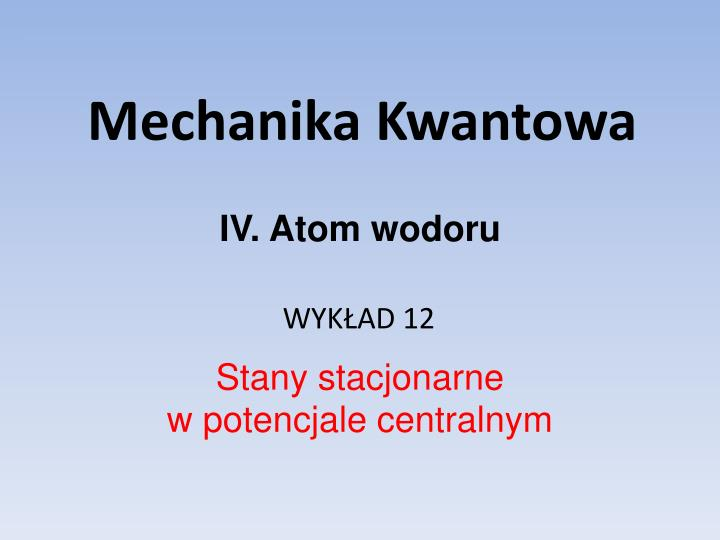 Mechanika kwantowa