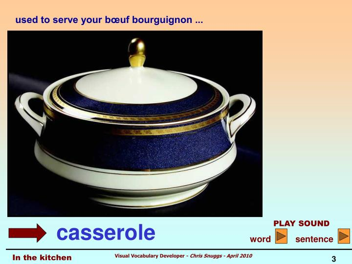 used to serve your bœuf bourguignon ...