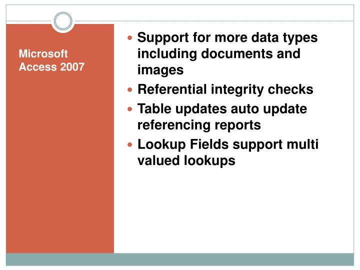 Support for more data types including documents and images