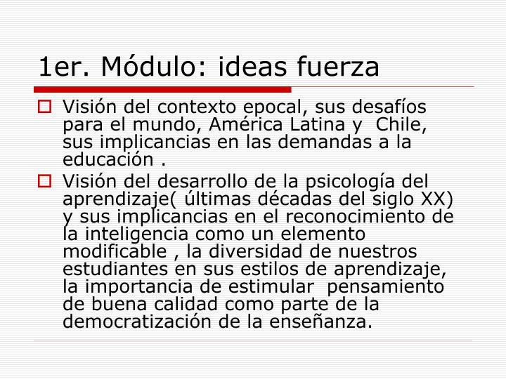 1er. Módulo: ideas fuerza